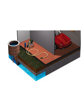 Εφαρμογή φίλτρου νερού κεντρικής παροχής με πιεστικό