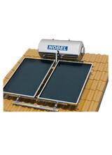 Ηλιακός Θερμοσίφωνας Κεραμοσκεπής Classic Nobel  200 lt/4m2(2x2m) Τριπλής Ενέργειας με Δοχείο Glass