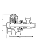 Brass Form διακόπτης μονοσωληνίου εξωτερικού βρόγχου σπαστός Micro-Form 650