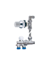 Διακόπτης Brass Form μονοσωληνίου εξωτερικού βρόγχου σπαστός Micro Form 690 θερμοστατικός με By-Pass