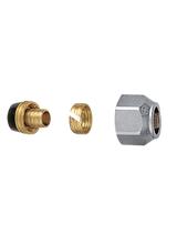 Σύνδεσμος πλαστικής σωλήνας 18x2.5 Brass Form 01 - 02 - 03