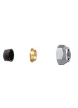 Σύνδεσμος σωλήνας χαλκού Φ15 (λάστιχο και δαχτυλίδι) Brass Form 06 - 07 - 08