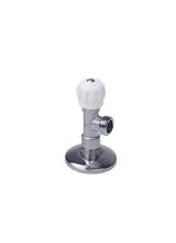 Περιστροφικός Γωνιακός Διακόπτης 1/2x1/2 Λευκός Smart Brass Form 1214