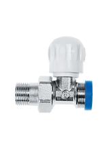 Διακόπτης Brass Form ίσιος δισωληνίου εξωτερικού βρόγχου Smart Form 1606
