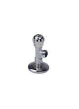 Περιστροφικός Γωνιακός Διακόπτης 1/2x1/2 Χρωμέ Smart Brass Form 2214