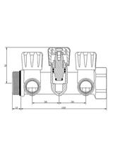 Συλλέκτης Top Γωνιακός Μηχανισμός 90° 1'' Brass Form 552 (3 Παροχές)