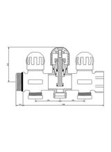 Συλλέκτης Proto 1'' Brass Form 662 (3 Παροχές)