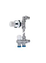 Διακόπτης Εξωτερικού Βρόγχου Σταθερός Μονοσωληνίου Κυκλώματος Eco - Hit Brass Form 680 θερμοστατικός (Status)