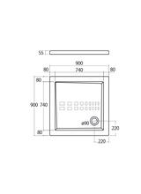 Ντουσιέρα Τετράγωνη Althea Extra Slim 2713742 90x90x5,5cm