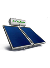 Ηλιακός θερμοσίφωνας COSMOSOLAR Glass Σειρας EGL 200lt/3,10m² Τριπλής Ενέργειας Καθετος με Επιλεκτικό Συλλέκτη