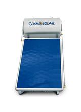 Ηλιακός θερμοσίφωνας COSMOSOLAR INOX Σειράς CS-120-IS 2m2 Τριπλής Ενέργειας Κάθετος με Επιλεκτικό Συλλέκτη